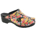BJORK 750602-90-36 BJORK VERA Limited Edition Sugar Skull Leather Clogs Open Back - Multi / EU-36