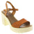 Creeks 208-305-36 CREEKS Makena Platform Sandals - Made in Spain Brown Multi / EU-36