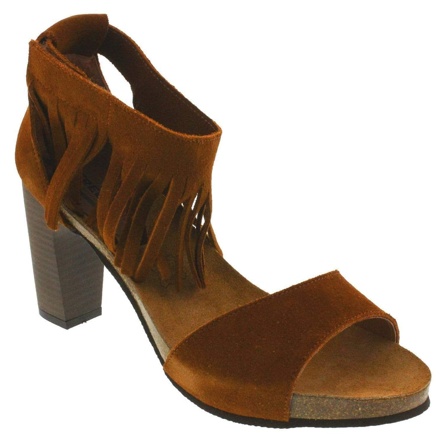 Creeks 258-378-37 CREEKS Ruthie Wood Chunky Heels Brown / EU-37