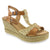 Creeks 208-346-36 CREEKS Tessa Open-toe Wedge Sandal Brown Multi / EU-36
