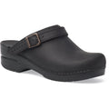 Dansko 238020202-35 DANSKO Ingrid Oiled Leather Open Back Clogs Black / EU-35