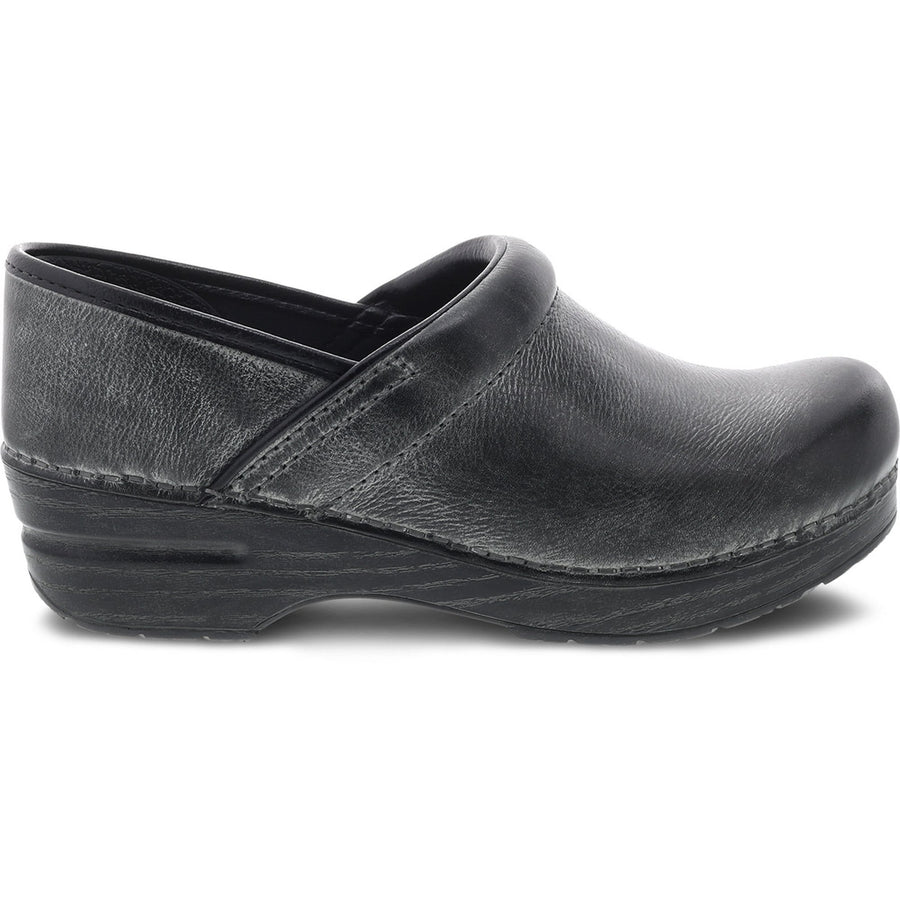 Dansko DANSKO Professional Charcoal Distressed Leather Clogs