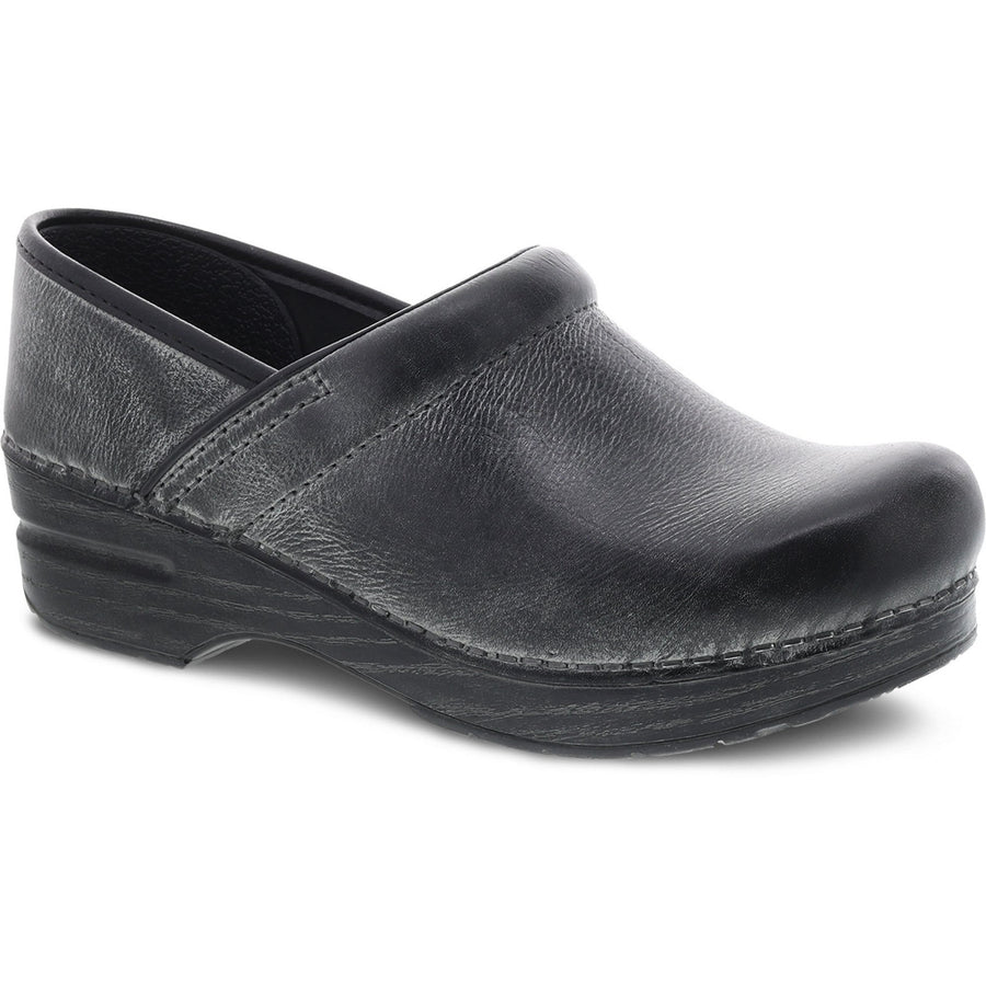 Dansko 306209702-40 DANSKO Professional Charcoal Distressed Leather Clogs Charcoal / EU-40
