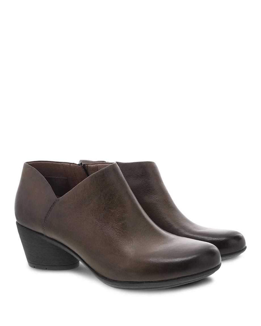 Dansko DANSKO Raina Mushroom Burnished Nubuck Booties
