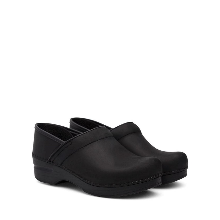 Dansko DANSKO WIDE Professional Black Oiled Leather Clogs