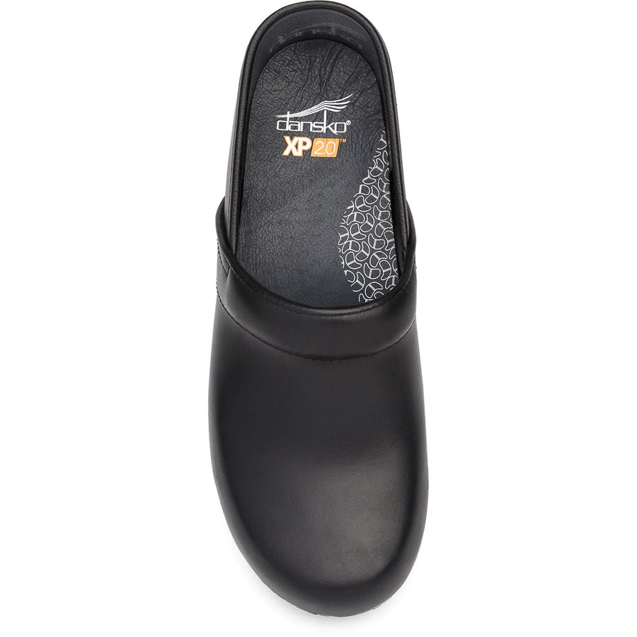 Dansko DANSKO WIDE XP 2.0 Black Pull Up Leather Clogs