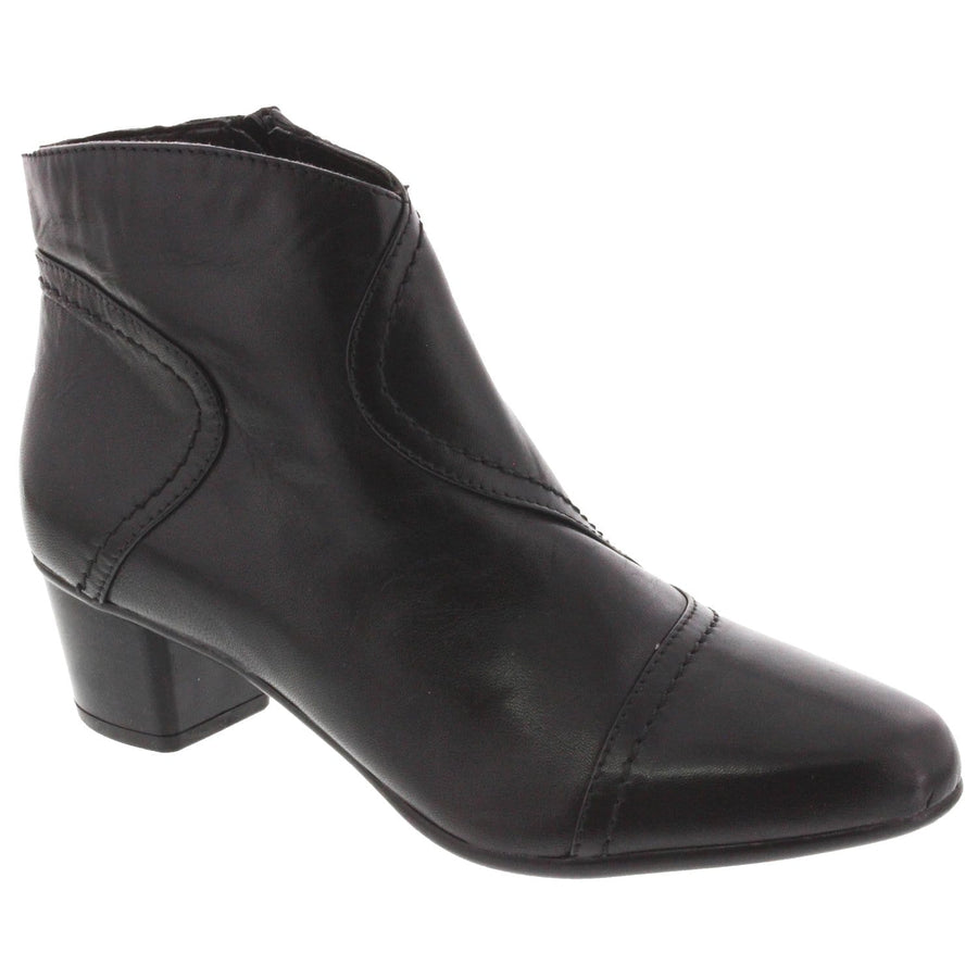 Di Fontana 104-218-38 DI FONTANA Mina Leather Bootie Black / EU-38