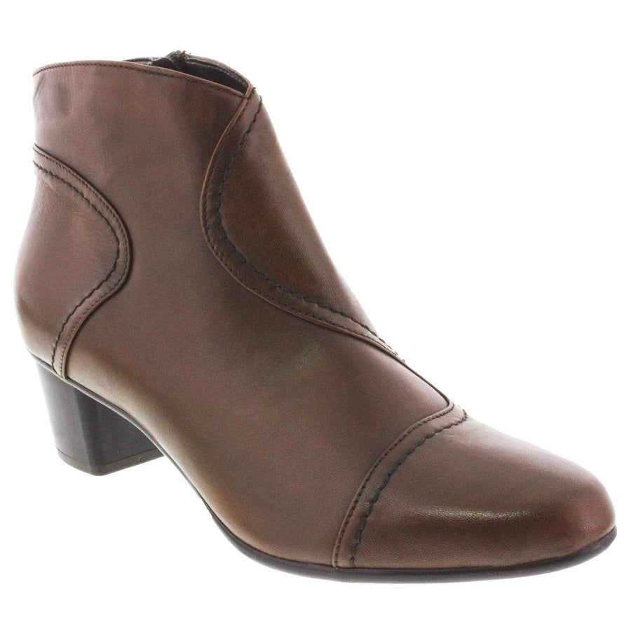 Di Fontana 204-218-36 DI FONTANA Mina Leather Bootie Brown / EU-36