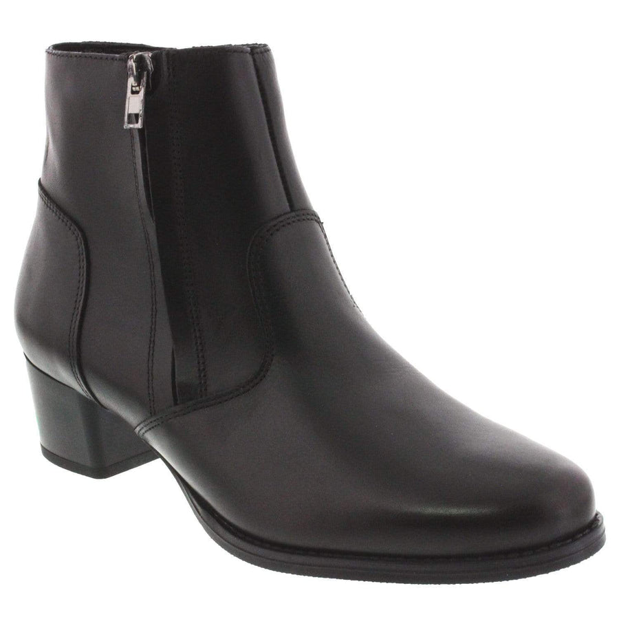 Di Fontana 105-216-36 DI FONTANA Sammy Leather Bootie Black / EU-36