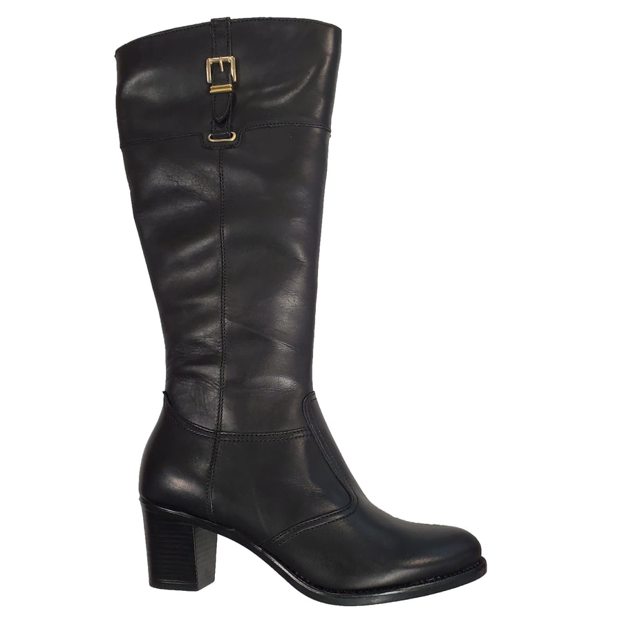 Di Fontana DIF-2513105457-38 Di Fontana Tall Black Leather Boots Black / EU-38