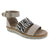 "Dromedaris Allison-sandal-beige/zebra-38 DROMEDARIS Sample Sale - Low Heel Leather Sandals Group ""A"" - Save Over 75% Off Allison / Beige Zebra / EU-38"