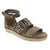 "Dromedaris Allison-sandal-graphite-zebra-38 DROMEDARIS Sample Sale - Low Heel Leather Sandals Group ""A"" - Save Over 75% Off Allison / Graphite Zebra / EU-38"