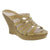 "Dromedaris Aminah-sandal-khaki-38 DROMEDARIS Sample Sale - High Heel Fashion Leather Sandals Group ""A"" - Save Over 75% Off Aminah / Mustard / EU-38"