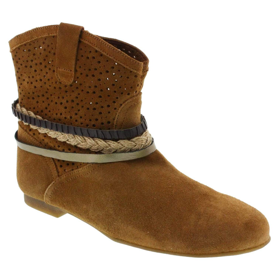 Creeks 652-342-36 Etta Bootie * Genuine Suede * Made in Spain * Brown / EU-36