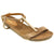FOSCO 202-199-36 FOSCO Avril Open-toe Wedge Sandal Taupe / EU-36