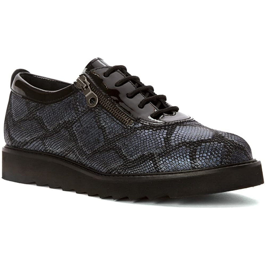 Helle Comfort HC-DAMIANA-BLK-37 Helle Comfort Damiana Lace Up Leather Shoes Black / EU-37