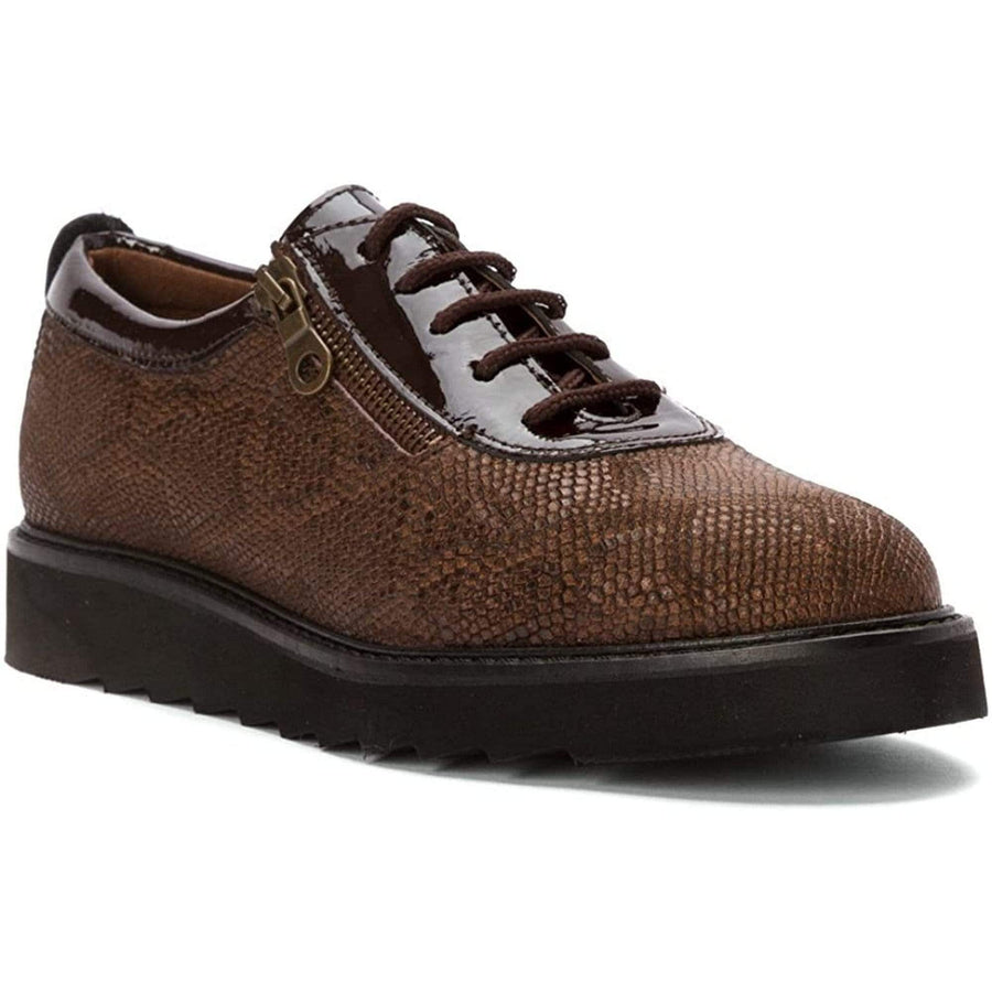 Helle Comfort HC-DAMIANA-BRN-37 Helle Comfort Damiana Lace Up Leather Shoes Brown / EU-37