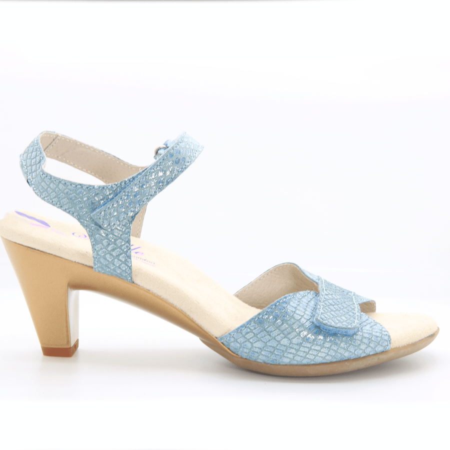 Helle Comfort Helle Comfort Eudora Sandals in Snake Leather