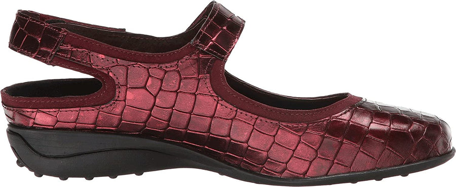 Helle Comfort Helle Comfort Sahara Mary Jane Croco Leather Shoes