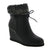 IXOO 178-479-36 IXOO Donna Wedge Bootie Black / EU-36