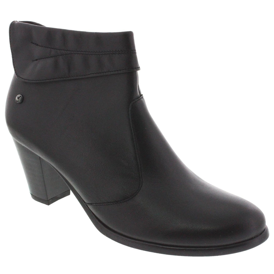IXOO 106-801-40 IXOO Sue Leather Bootie Black / EU-40