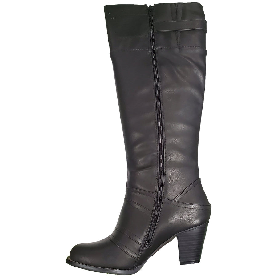 IXOO IXOO Tall Leather Boots in Black Leather