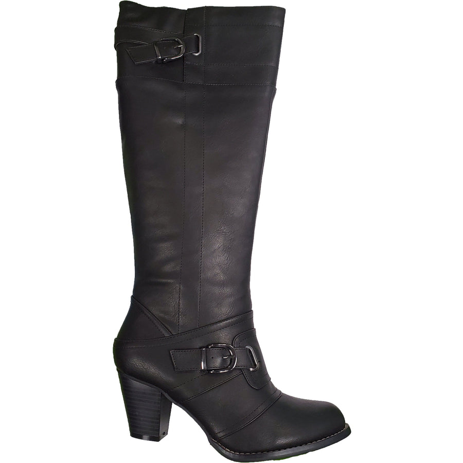 IXOO IXOO-2514107402-38 IXOO Tall Leather Boots in Black Leather Black / EU-38