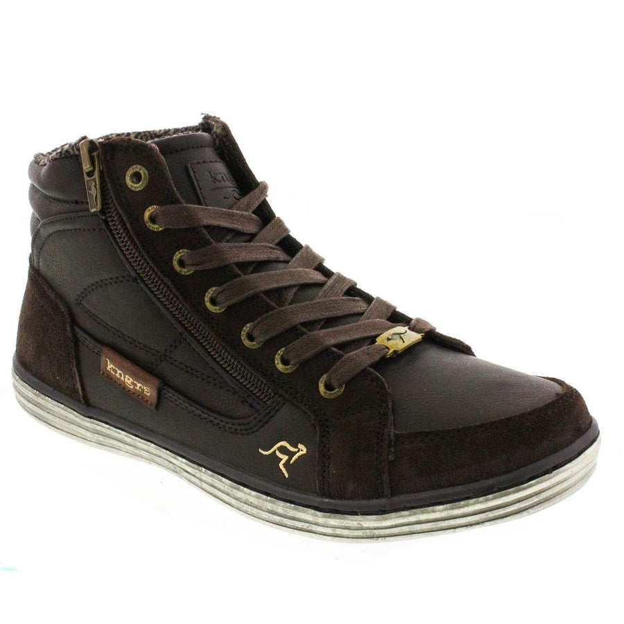 KNGRS 1406270470-40 KNGRS Walter Men's High Top Sneaker Brown / EU-40
