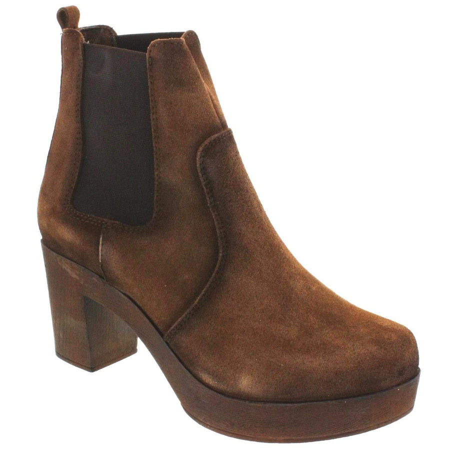 IXOO 655-441-36 Kye Bootie * Genuine Suede * Made in Portugal * Brown / EU-36