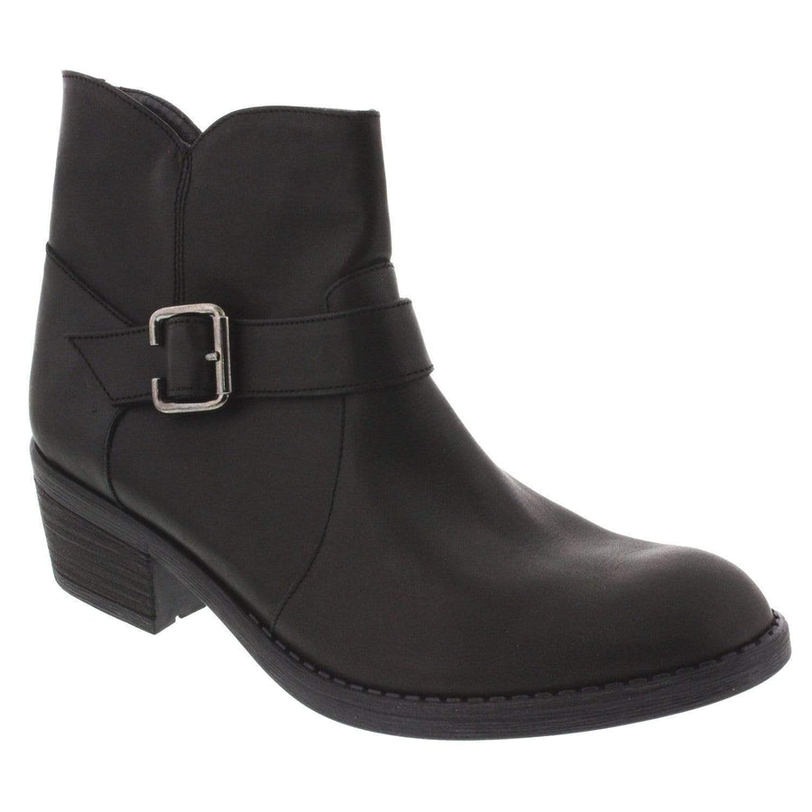 La Halle 105-652-36 LA HALLE Sarah Leather Bootie Black / EU-36