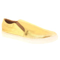 Nadia Noshie 410101-12-36 NADIA NOSHIE Kinley Leather Slip-On Shoe Gold / EU-36