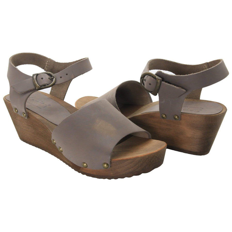 Sanita X457257-20-36 Sanita Olisa Wedge Flex Sandals Wooden sole - Flexible sole (2nd) (Size 36 only) Grey / EU-36
