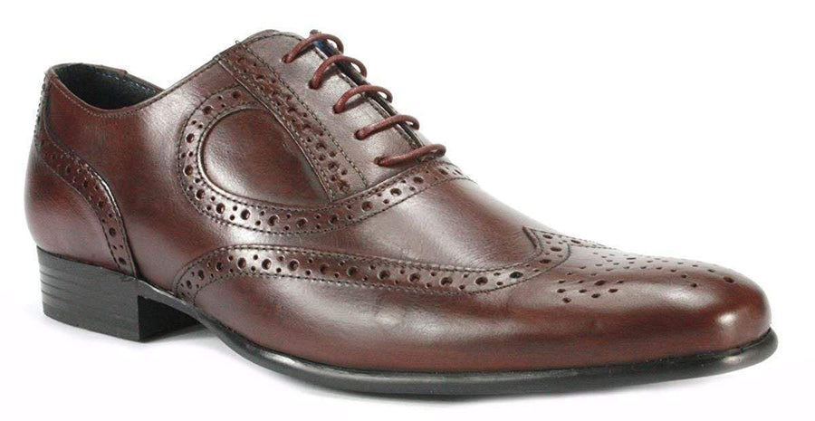 Red Tape M1904606-41 Red Tape Carlow Men's Leather Brogue Shoes Bordeaux / EU-41