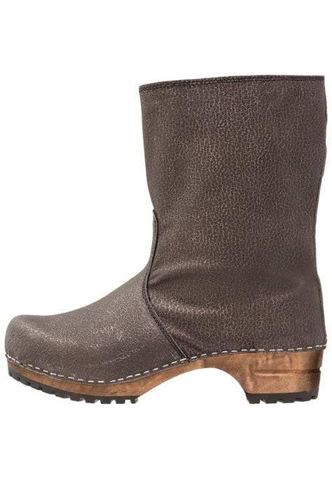 Sanita X458153-20-38 SANITA ELEONORA Wood Full Grain Leather Boots (2nd) Grey / EU-38