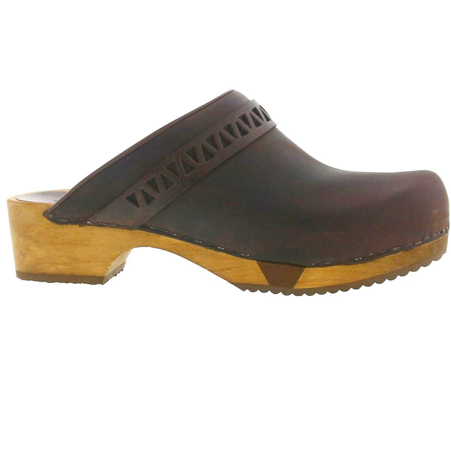 Sanita SANITA Frigga Open Back Wood Flex Oiled Leather Clogs (2nd)