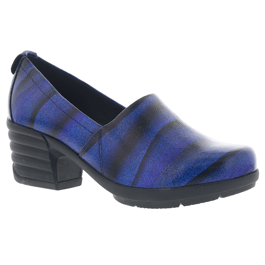 Sanita 466604-blue_glitter-38 SANITA President Icon Platform Pump - Blue Multi Glitter Leather Blue / EU-38