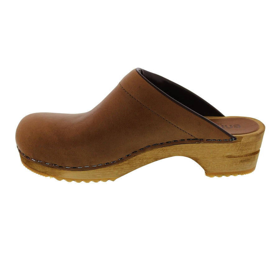Sanita SANITA Women's Wood Classic Chrissy Open Back Oiled Leather Clog (2nd)