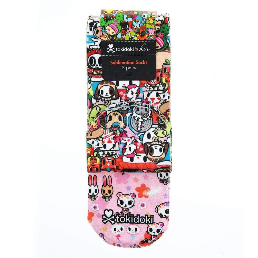 Tokidoki by Koi A122-TKDR Sublimation Socks - 2 Pack