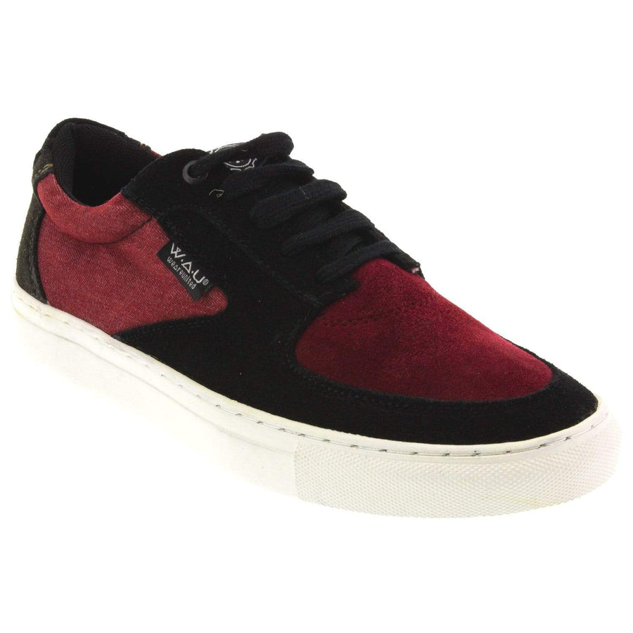 W.A.U. R1814PCOI-1-40 W.A.U. Men's Maverick Lace Up Sneaker Burgundy Multi / EU-40