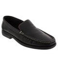 WALKING 1415100308-40 WALKING Men's Elliott Slip On Leather Shoes Black / EU-40