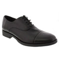 WALKING 1411100399-40 WALKING Men's Emerson Leather Lace Up Casual Shoes Black / EU-40