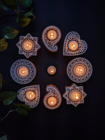 Hand-carved Wooden Candles