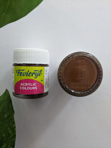 Burnt Sienna - Fevicryl Acrylic Colour