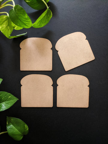 Bread Coaster MDF Base (Pack of 4)