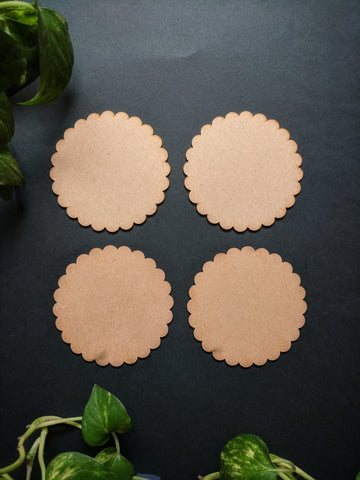 Scallop Coaster MDF Base (Pack of 4)