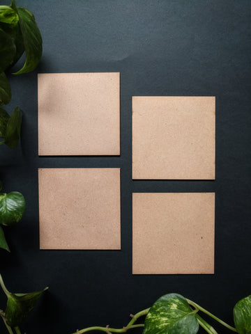 Square Coaster MDF Base (Pack of 4)