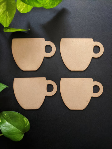 Cup Fridge Magnet MDF Base (Pack of 4)