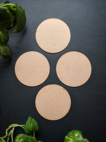 Circular Coaster MDF Base (Pack of 4)
