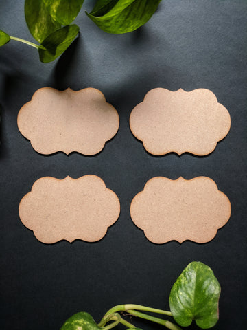 Placard Fridge Magnet MDF Base (Pack of 4)
