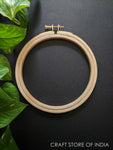Round Wooden Embroidery Hoop (Brass Key)